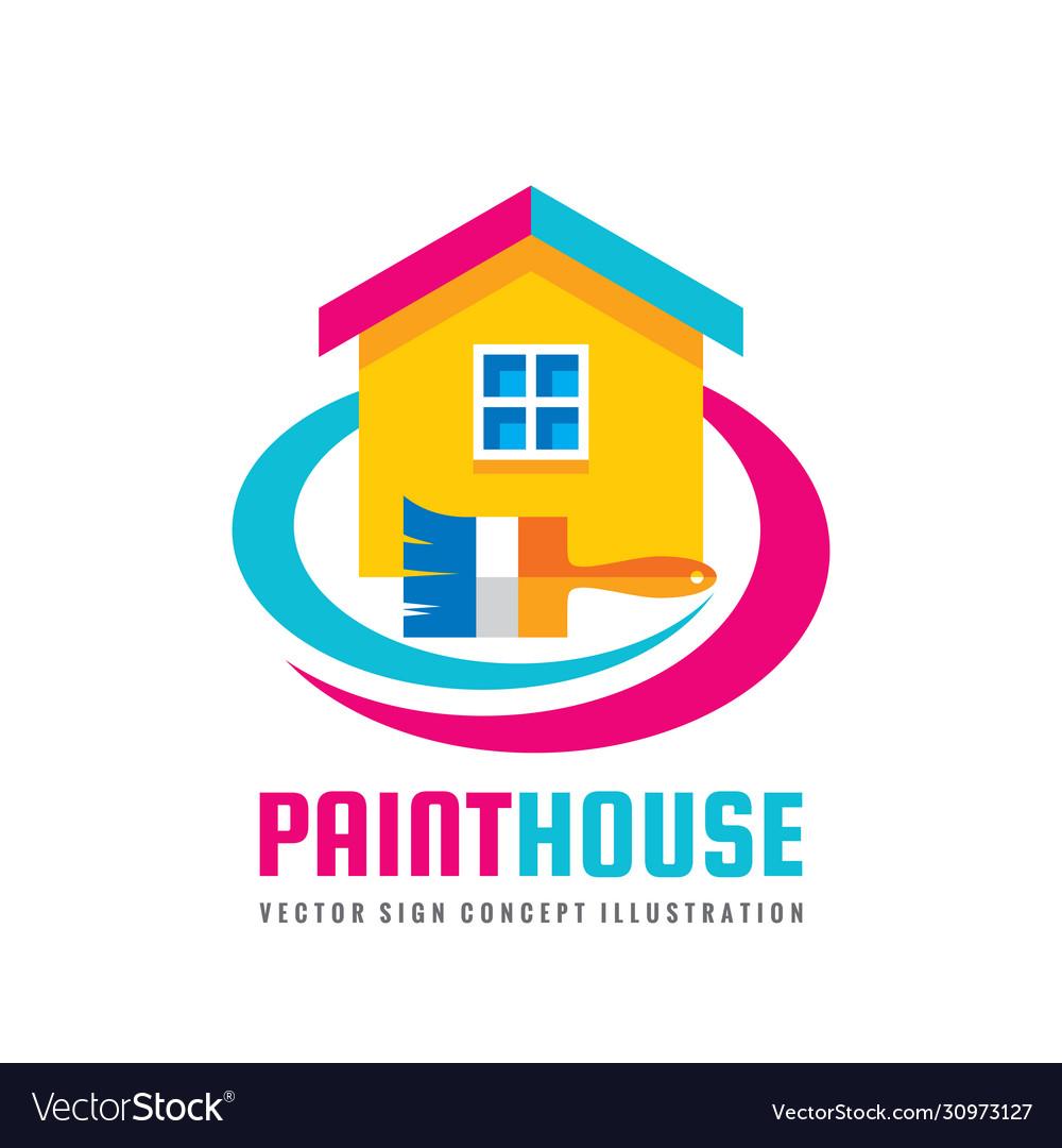 Paint house - concept logo template
