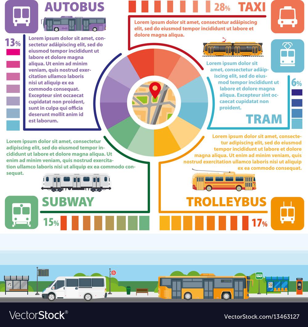 Passenger public transport infographics