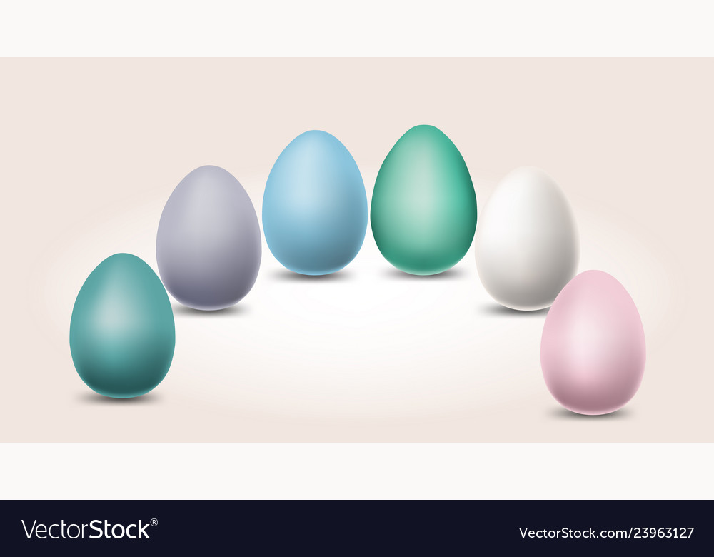 Pastel different color eggs for easter day
