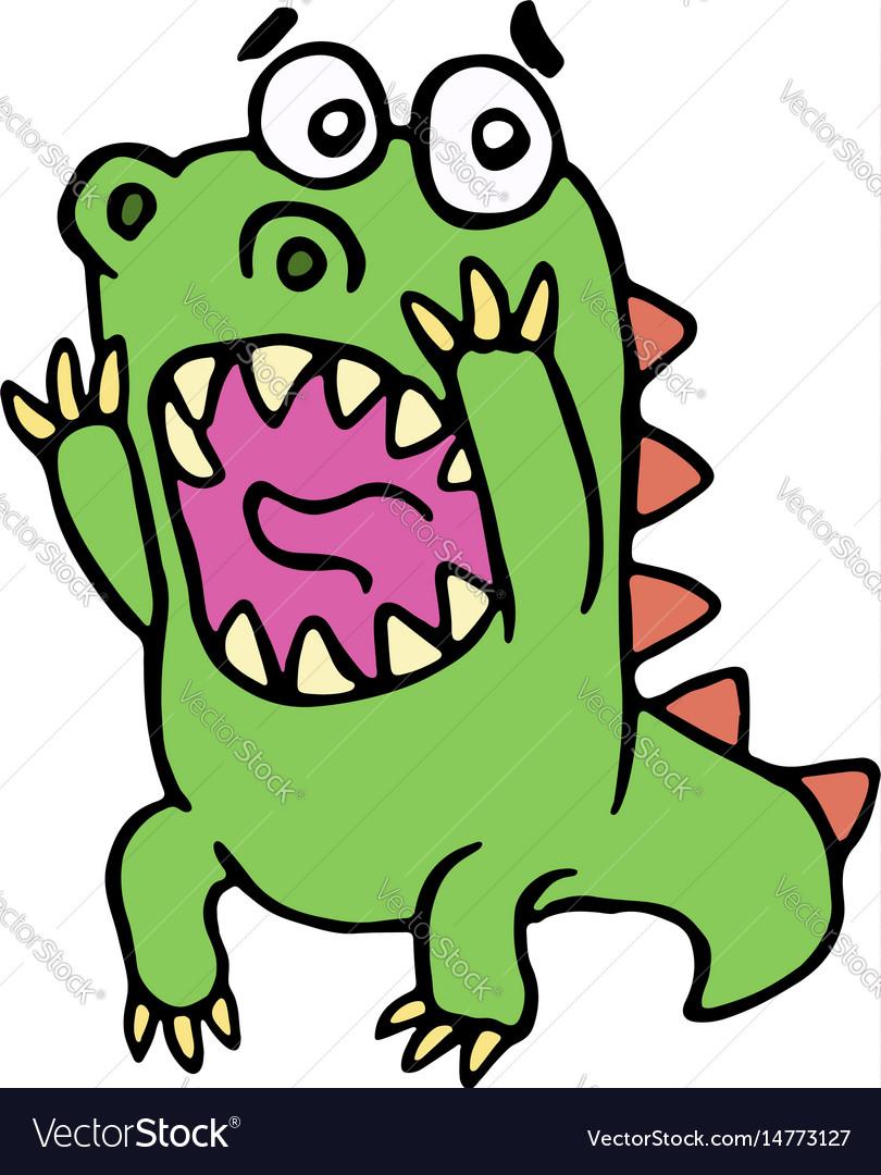 Scared dinosaur