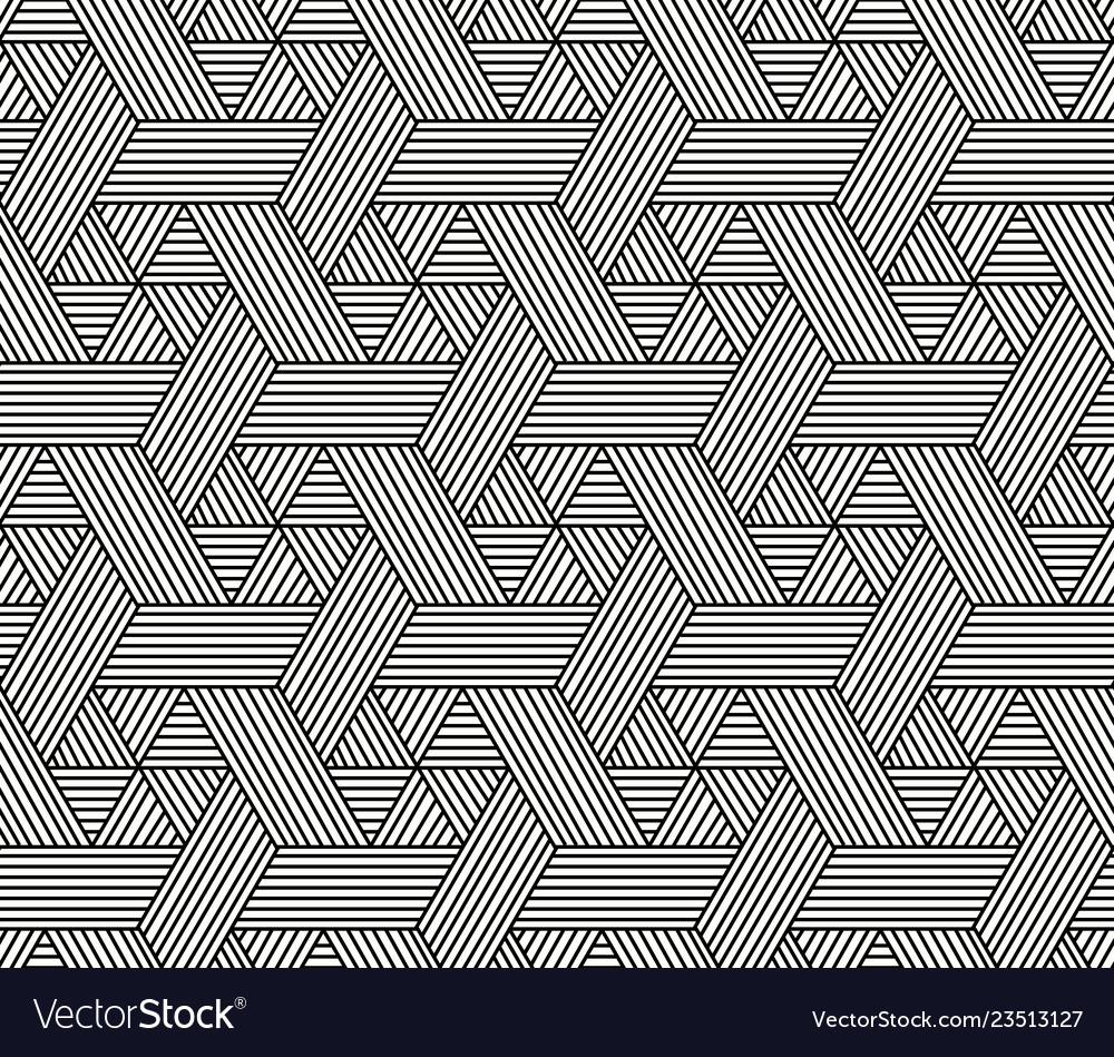 Seamless hexagon pattern in rattan style