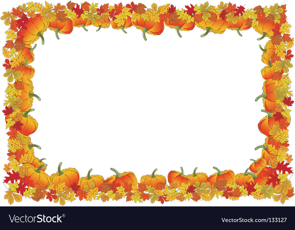 Thanksgiving day autumnal frame Royalty Free Vector Image