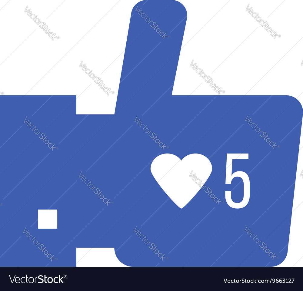 Thumbs up icon with like counter notification