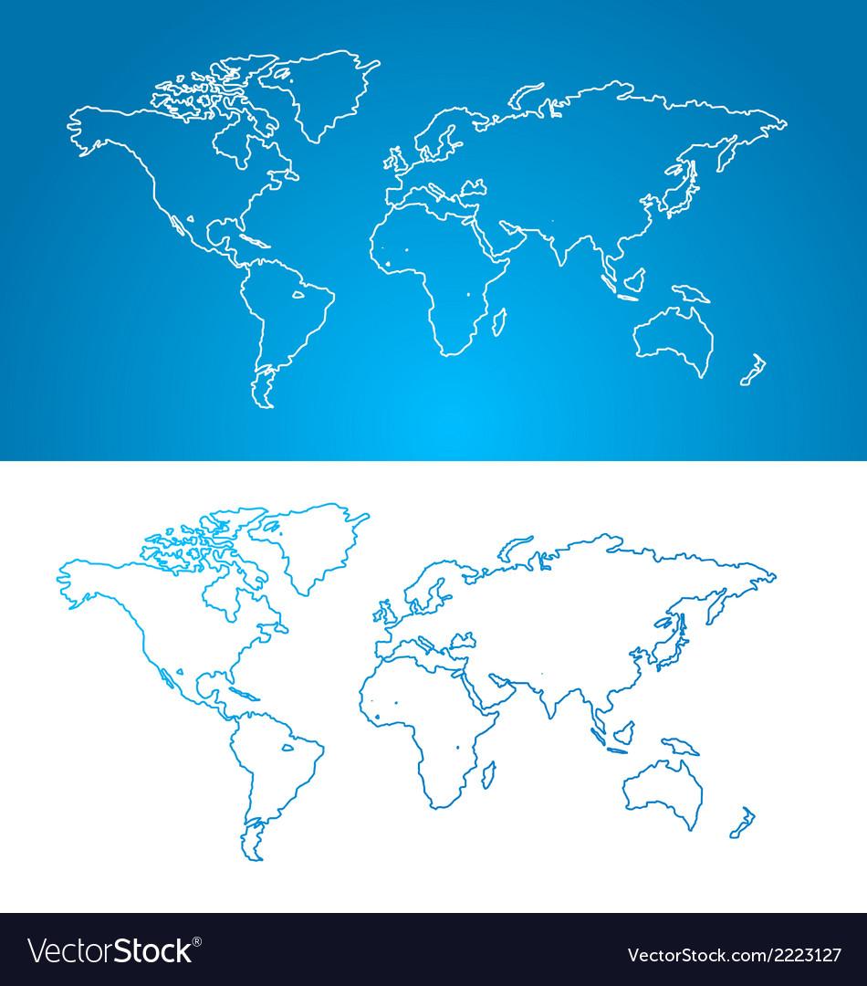 World map concept Contour