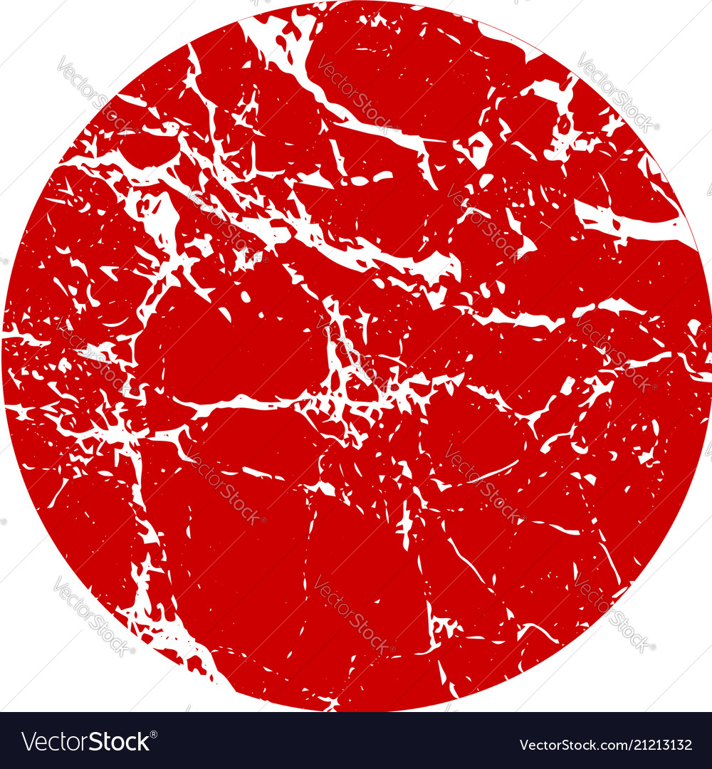 Abstract big red grunge circle on white background