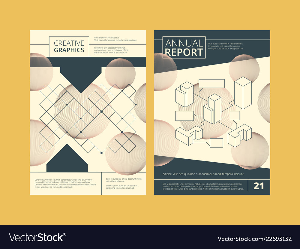 Annual report cover business reports template