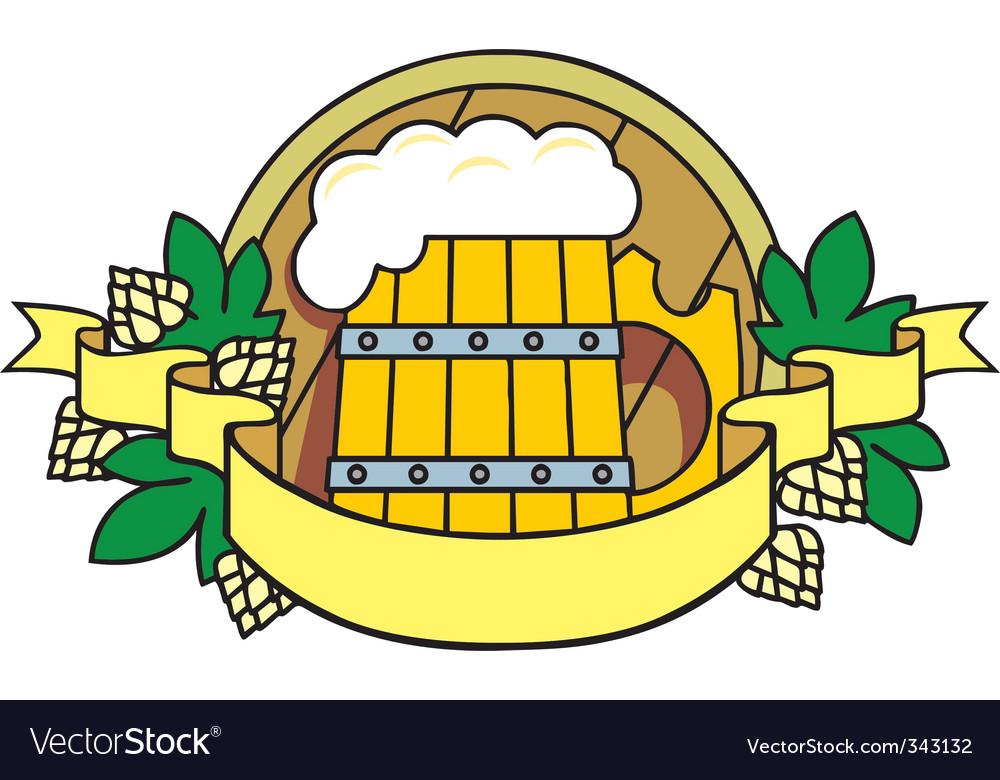 Beer hops vector image