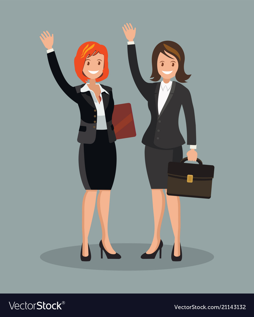 Business Women Dressed In Business Suit With Their