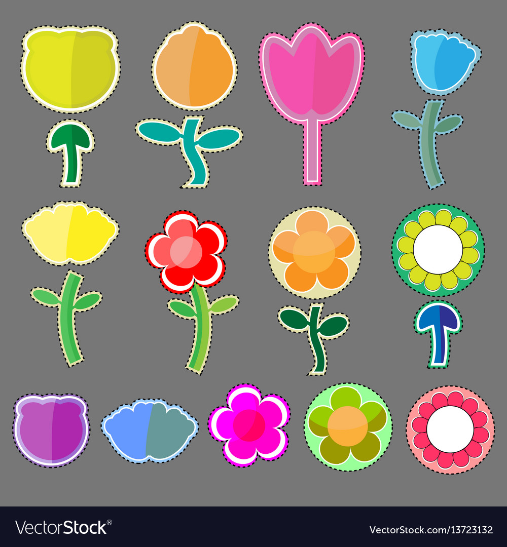 Cute flowers icon