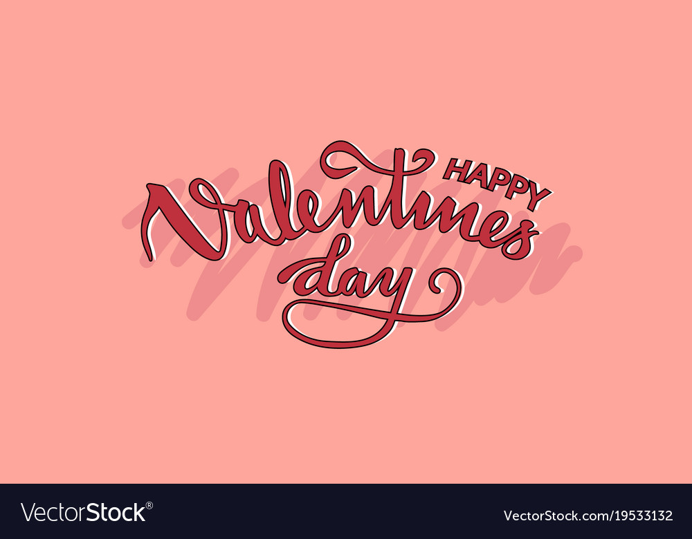 Happy valentines on pink background vector image