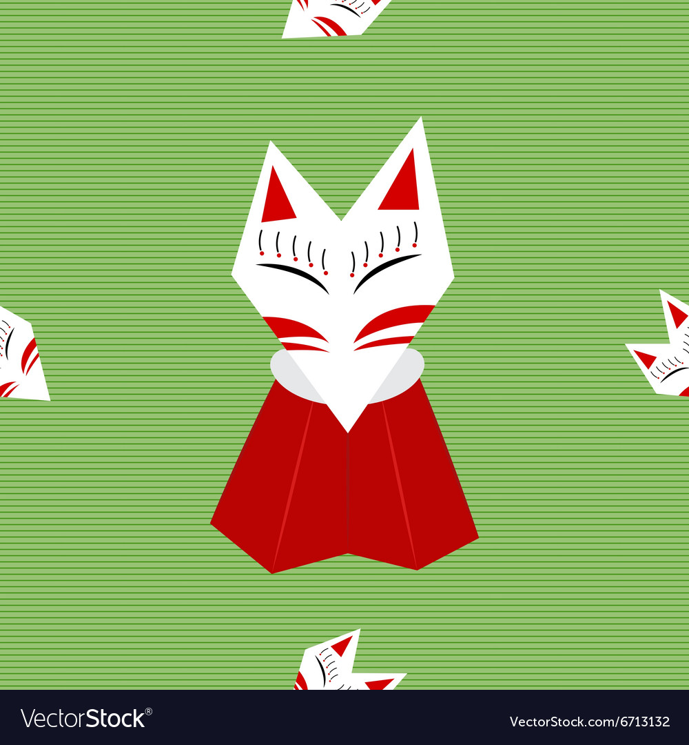 Inari Fox Green Background