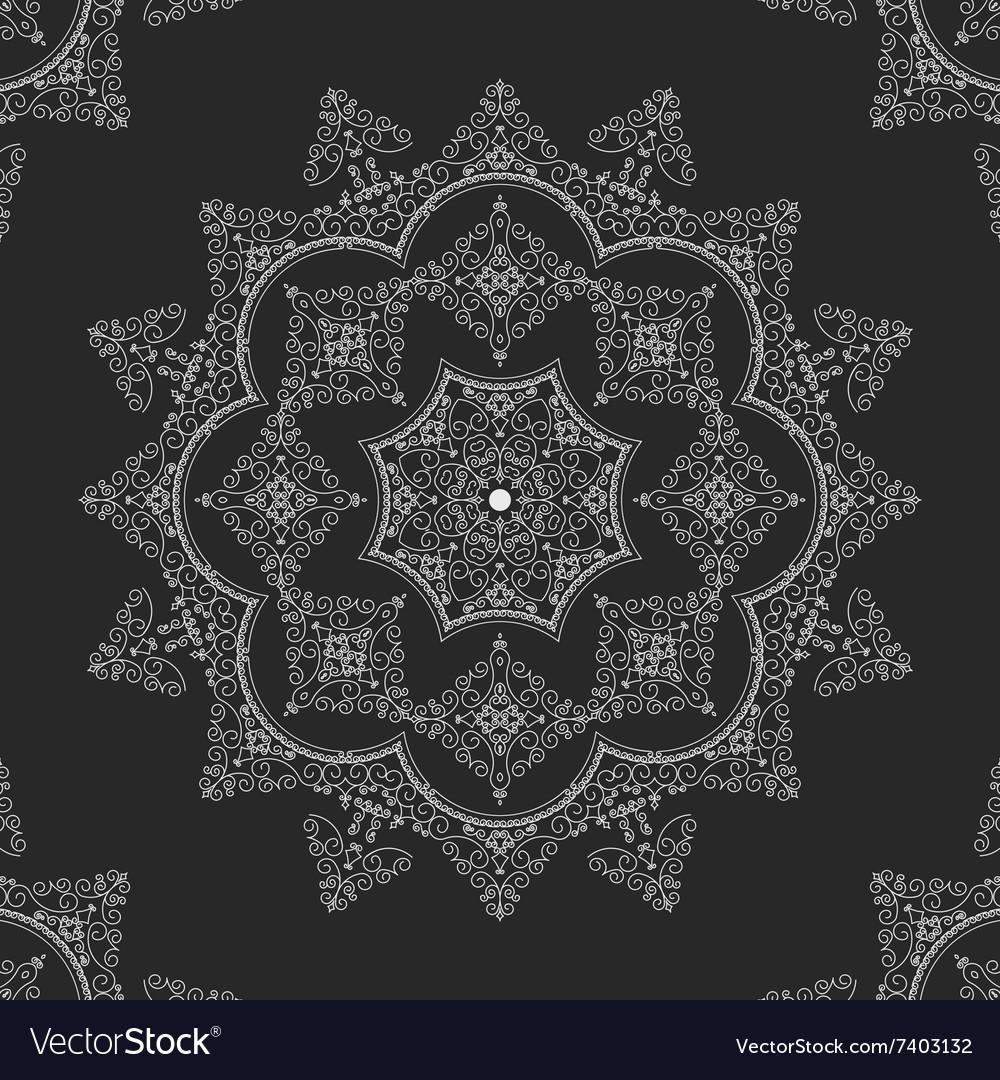 Lace doily mandala round ornament