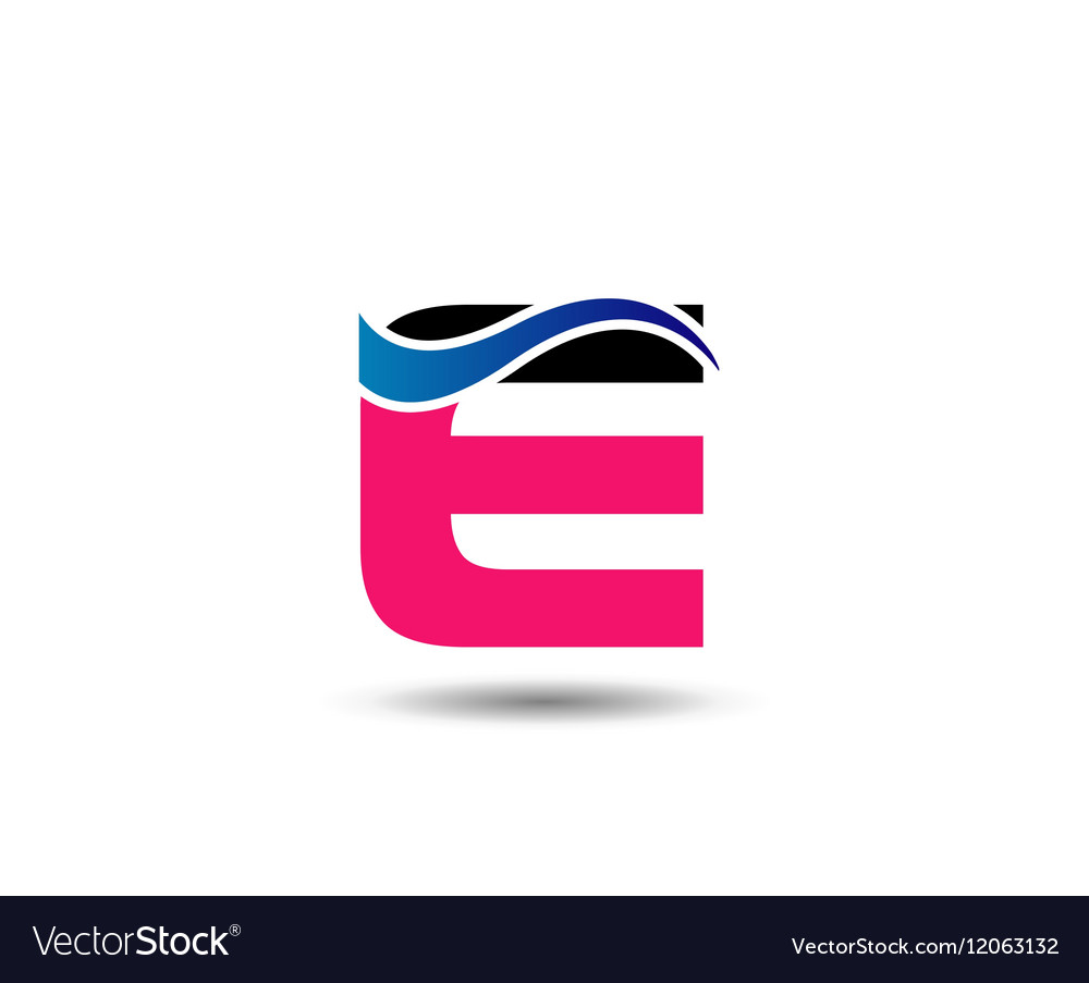 Logo E Letter company design template