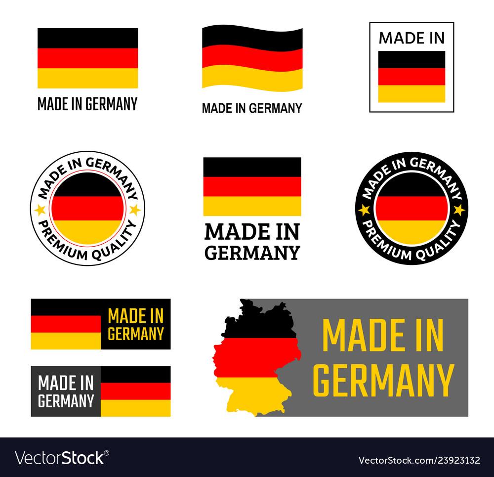 Made in germany labels set german product emblem