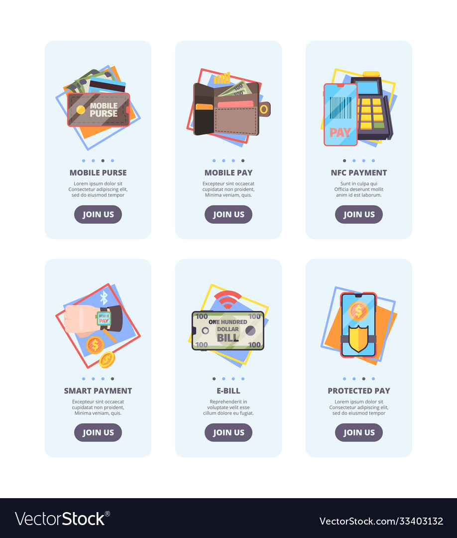 Mobile payments onboarding pages web user