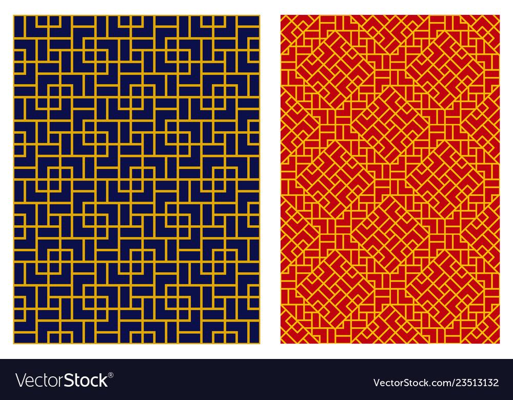 Seamless geometric chinese line pattern art