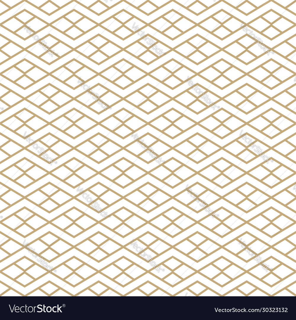 Seamless pattern with golden line ornament