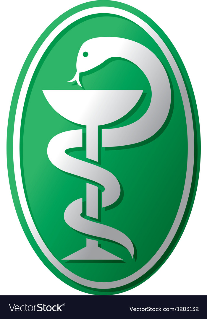snake medical symbol royalty free vector image