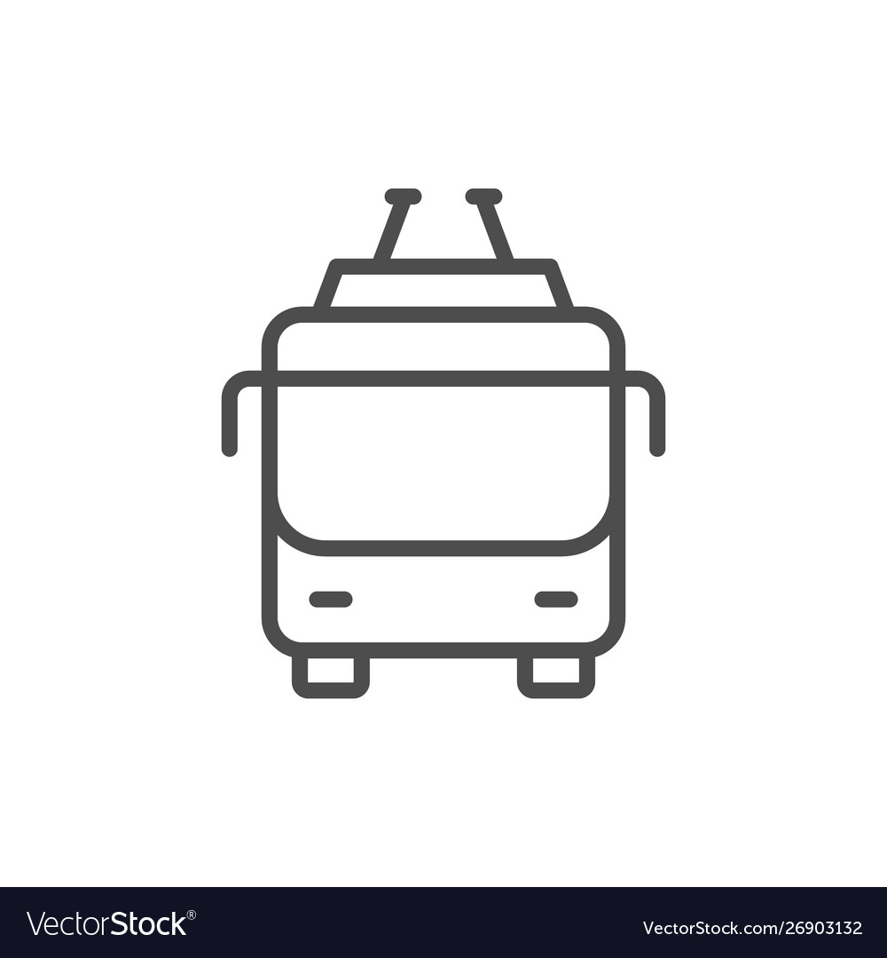 Trolleybus icon and public transport concept