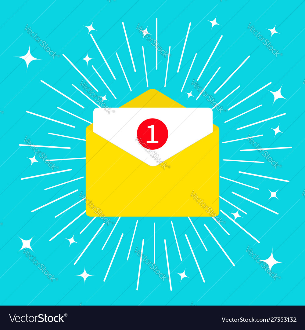 Unread mail notification with number marker email