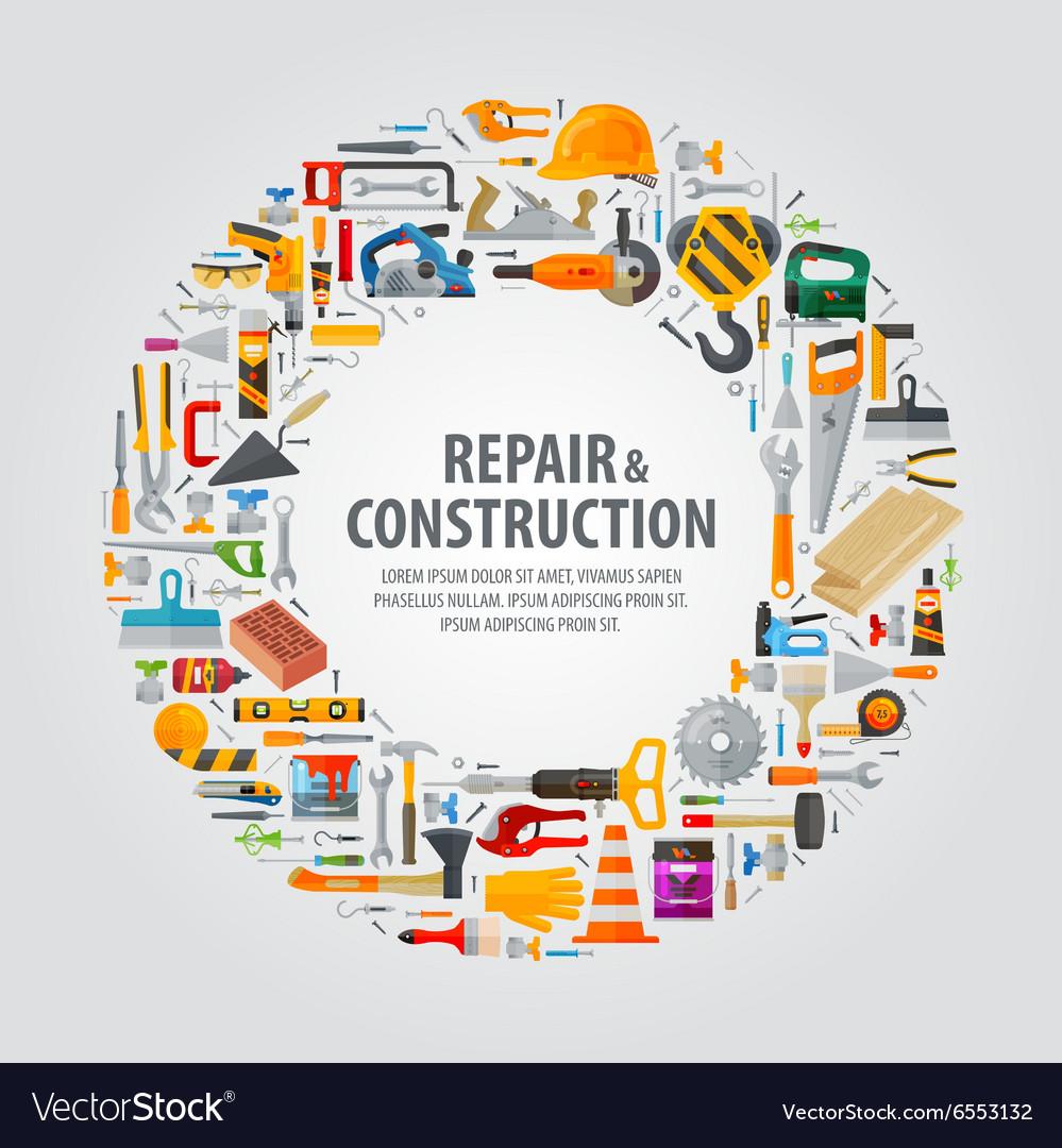 Working tools logo design template
