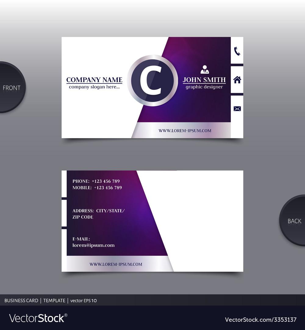 Abstract creative business card royalty free vector image abstract creative business card vector image colourmoves