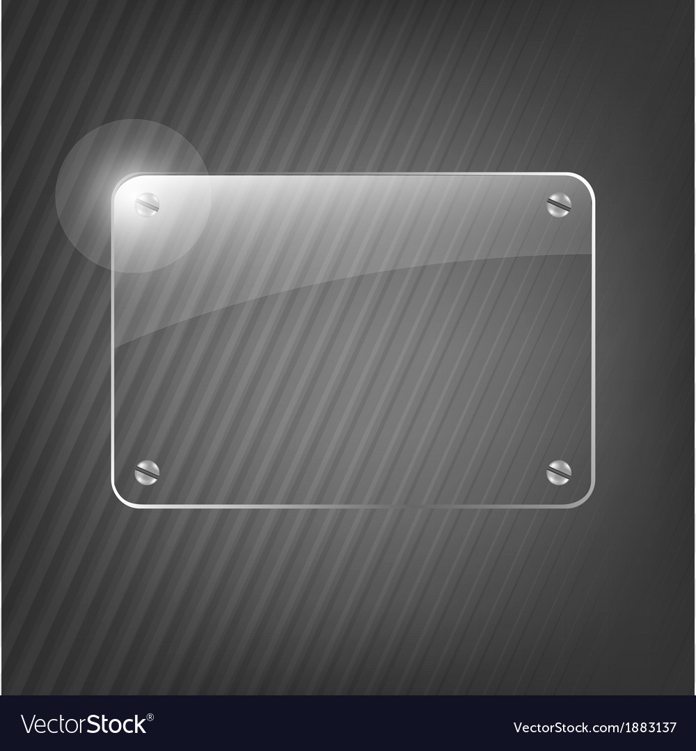Glass Framework On Black Background