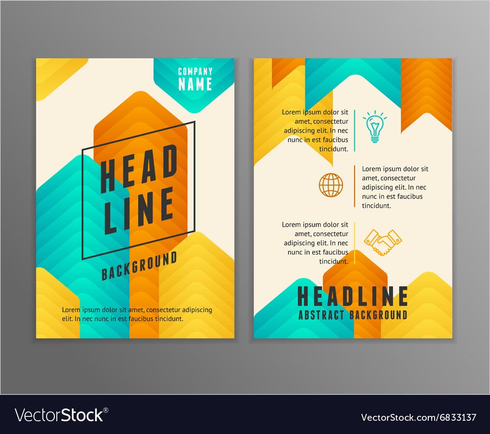 Poster Templates vector image