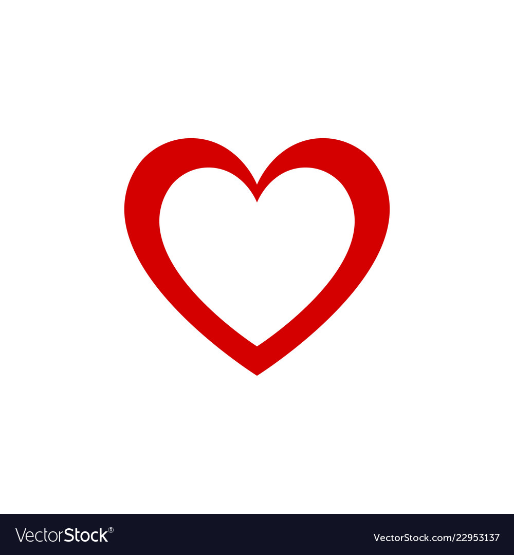 Red Heart Design Graphic Icon Valentines Day And Vector Image