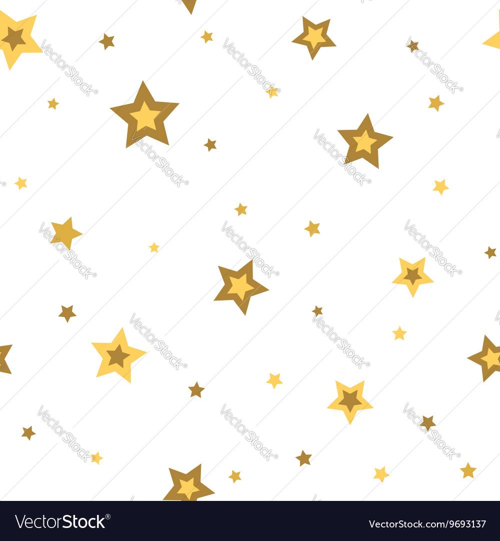Stars seamless pattern gold white 3D