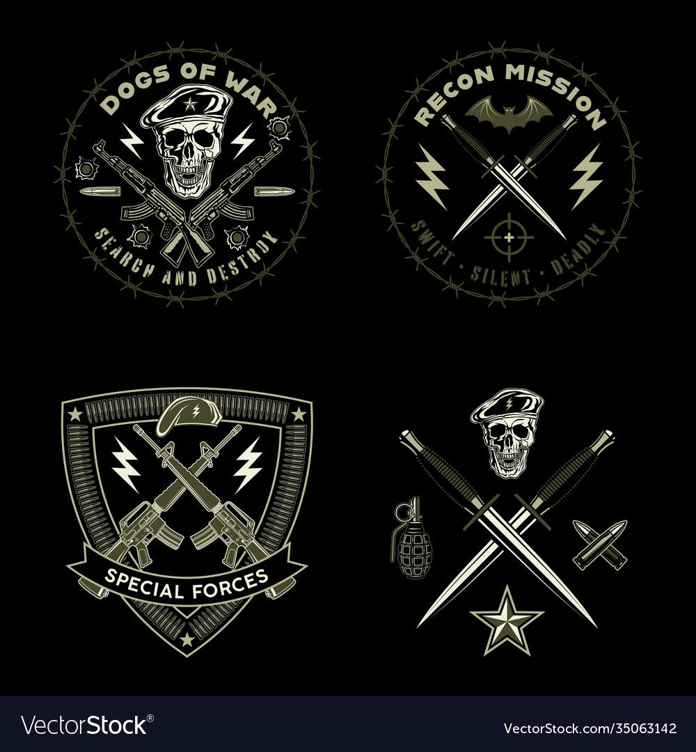 Army emblems set