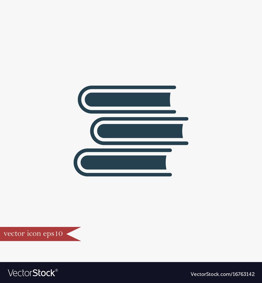 Book icon education vector image