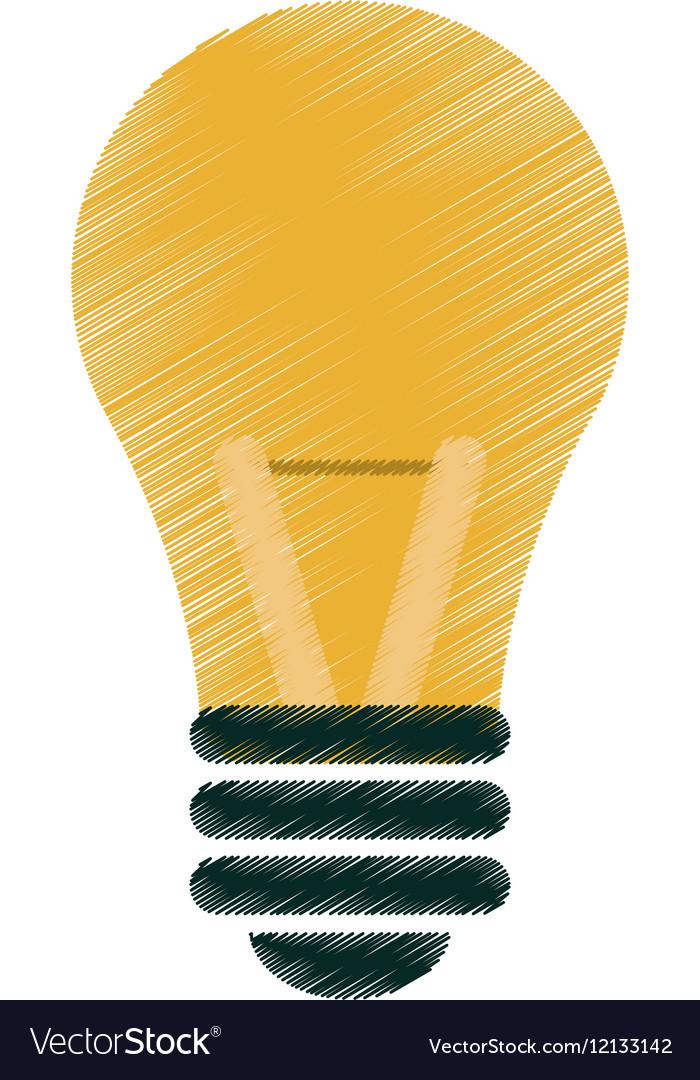 Drawing bulb idea intelligence light