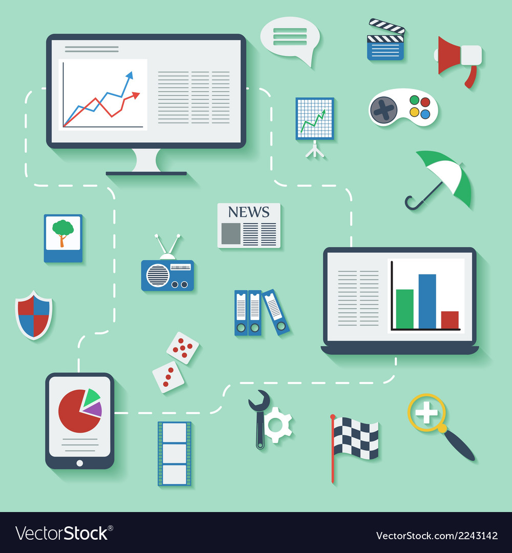 Flat design infographic concept with icons