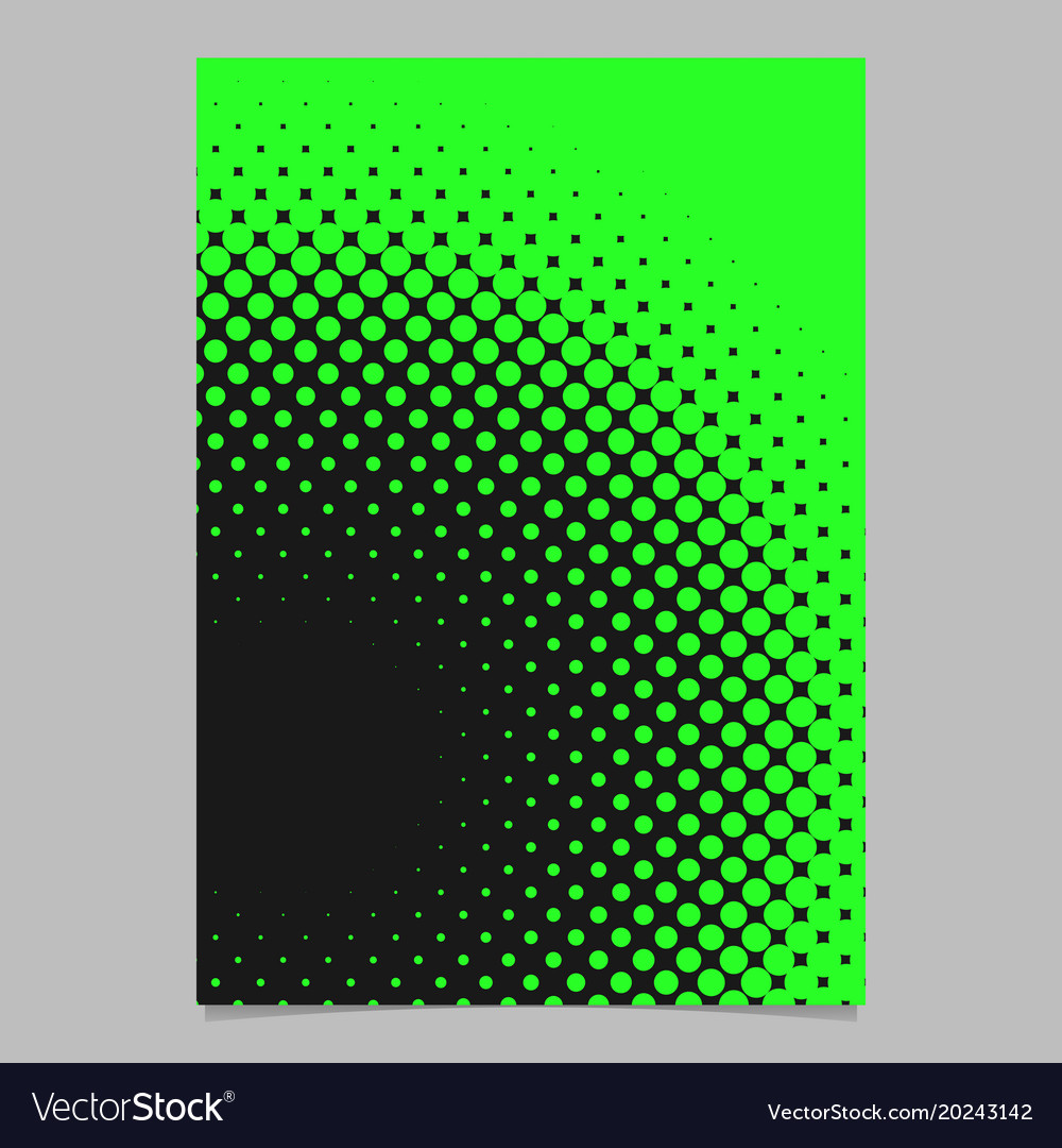 Halftone circle background pattern poster