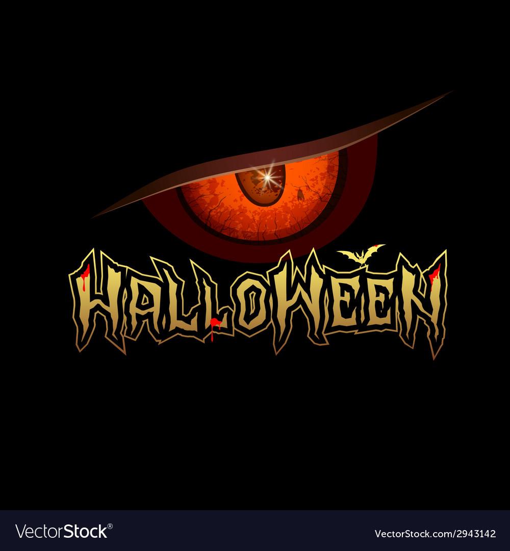 Halloween red eye design background