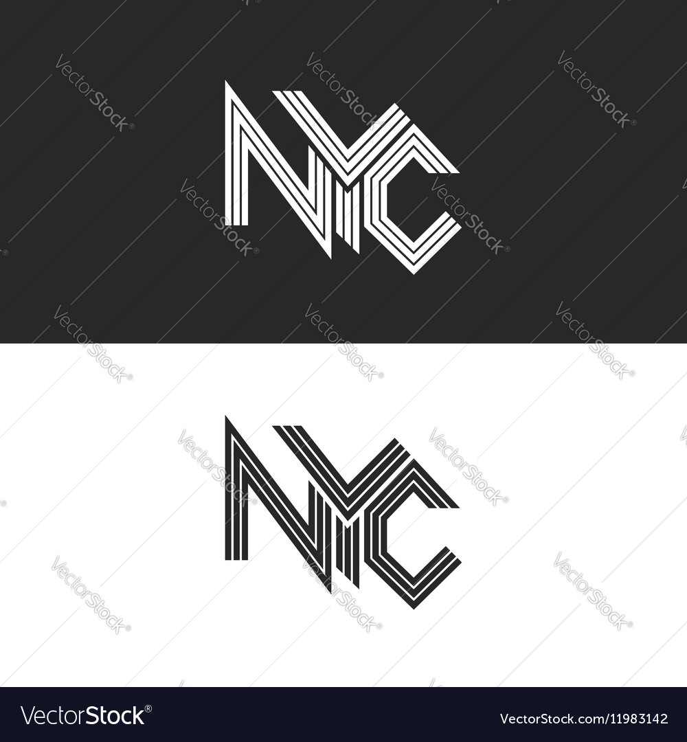 NYC lettering print t-shirt USA New York City vector image