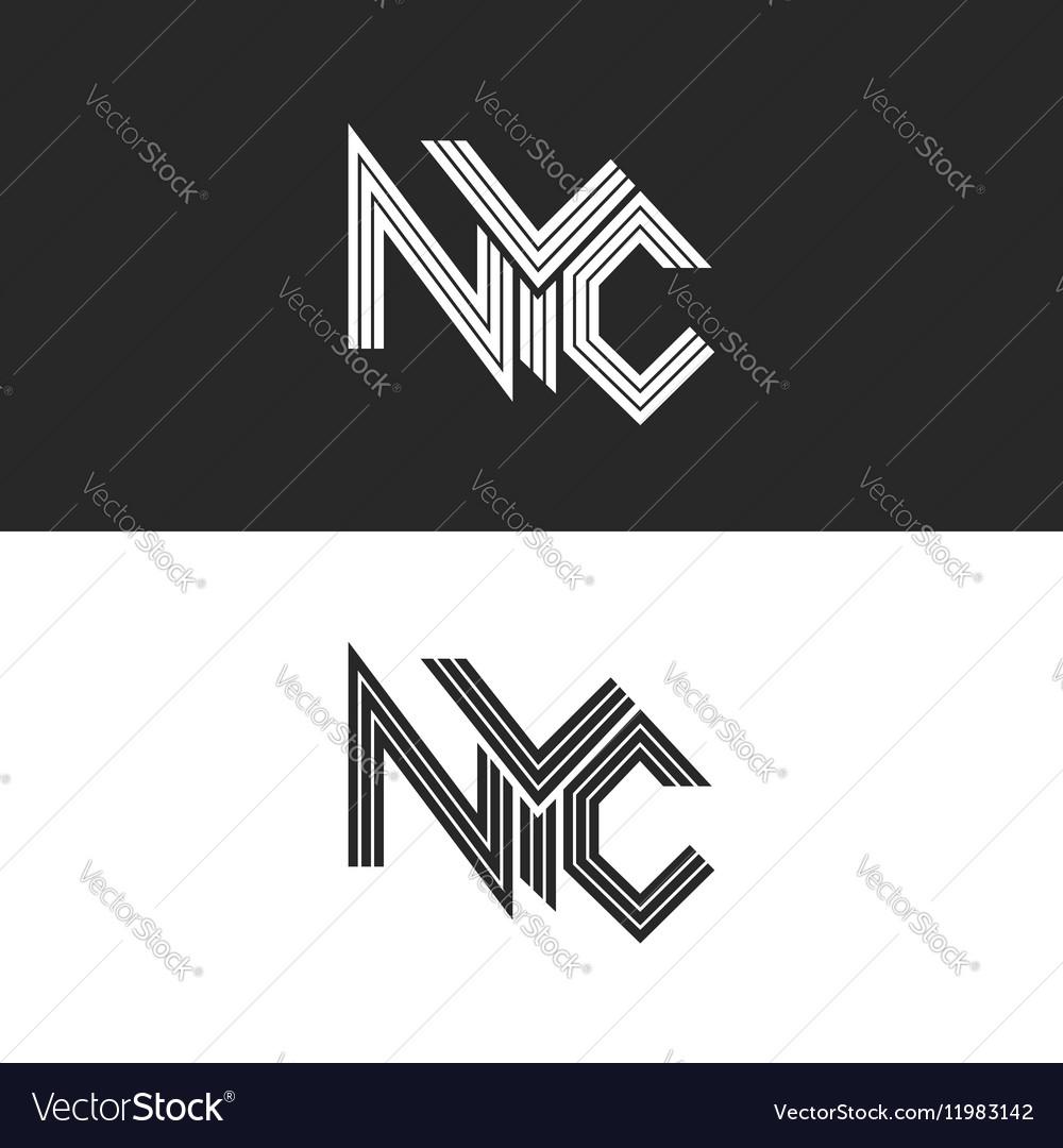 NYC lettering print t-shirt USA New York City