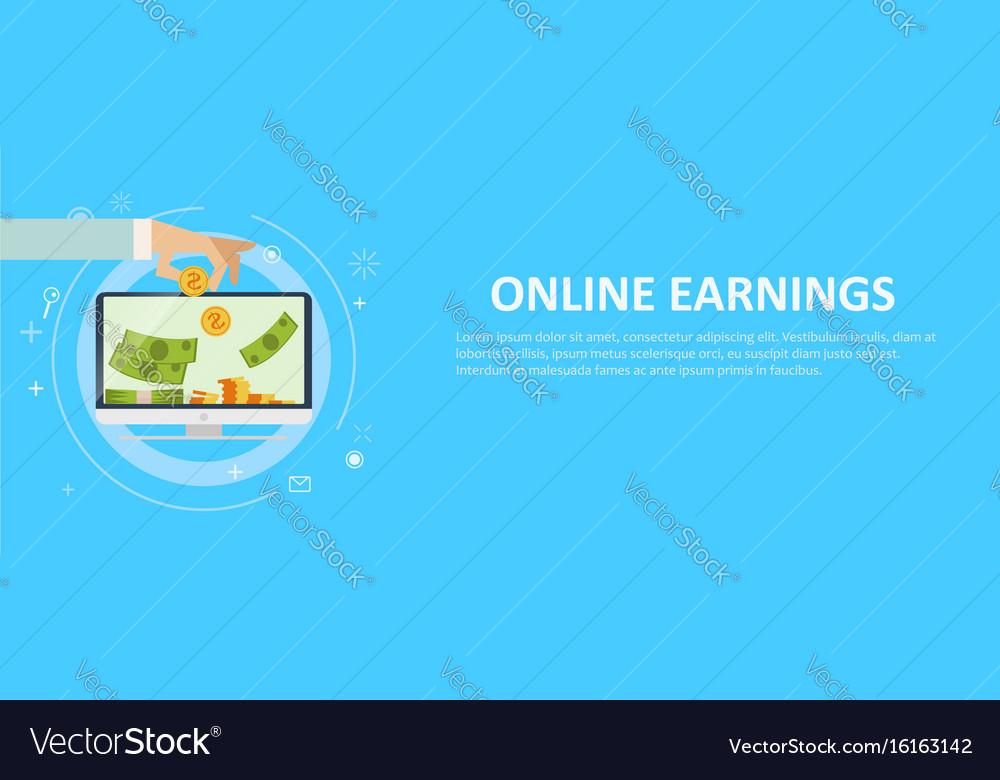 Online earnings banking