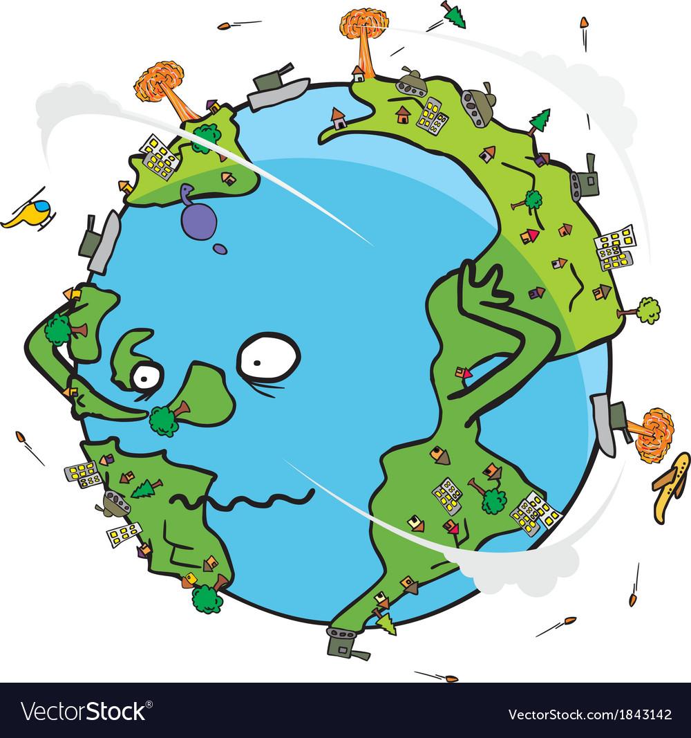 Poor earth cartoon