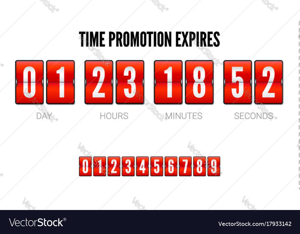 Promotions expires analog flip clock timer