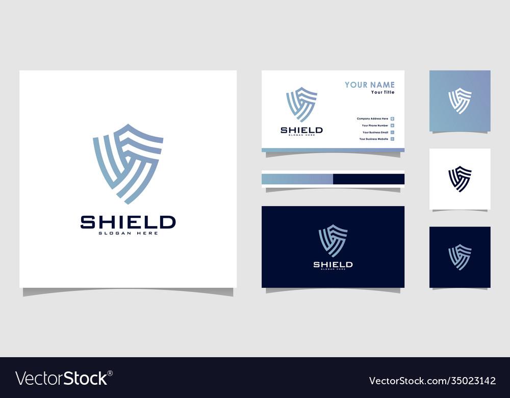 Security shield logo premium
