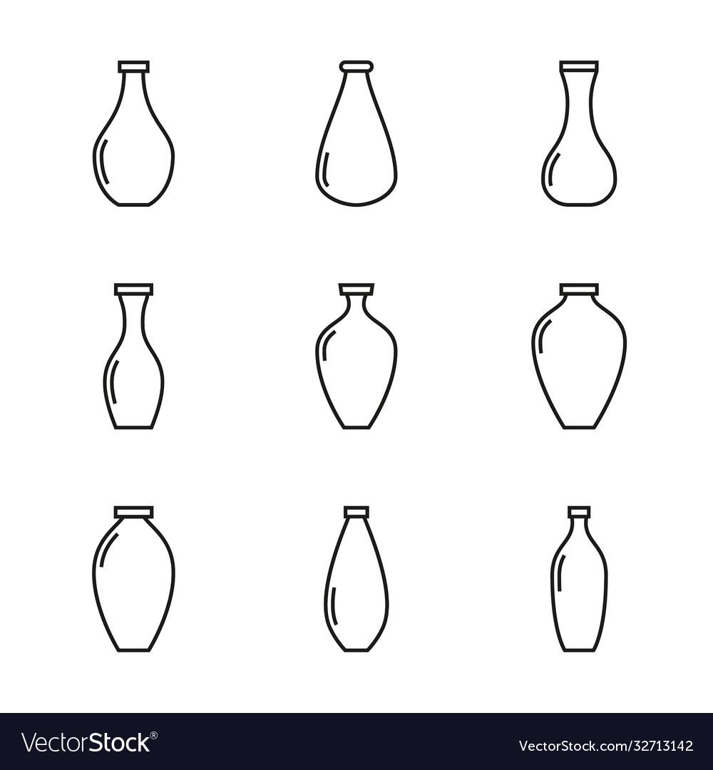 Set vases