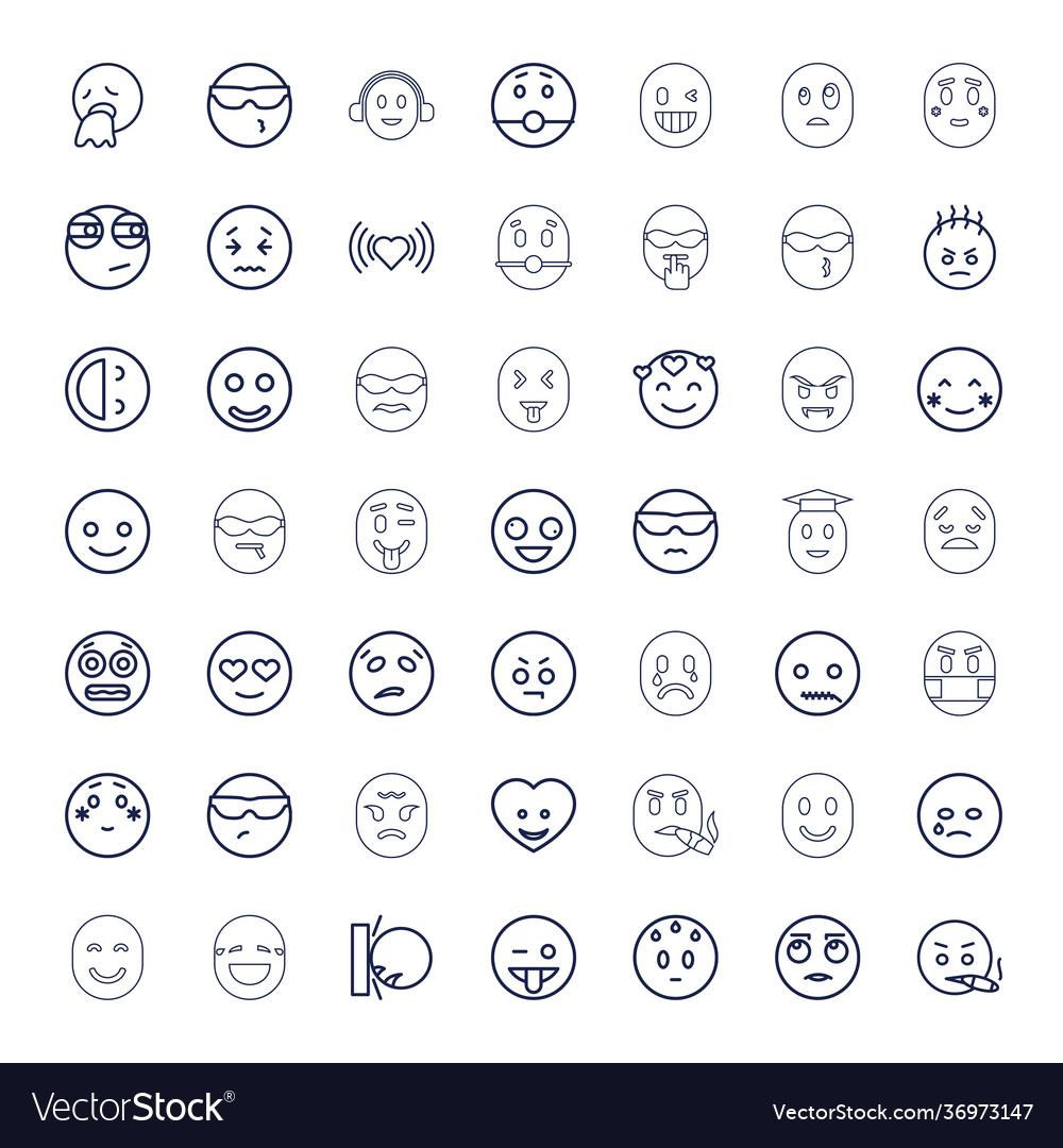 49 emotion icons