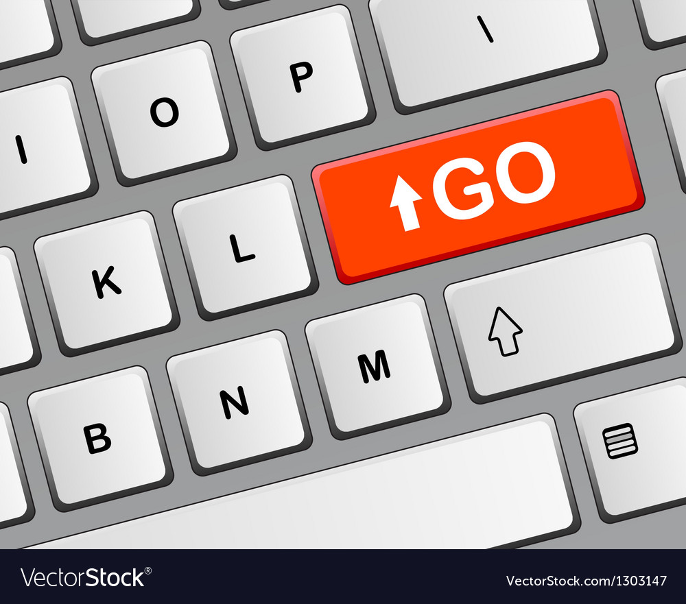 Key GO vector image