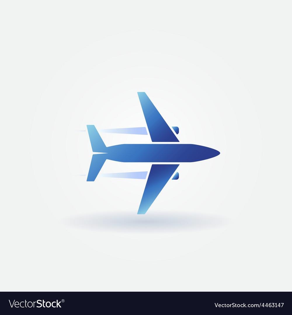 Plane takeoff logo