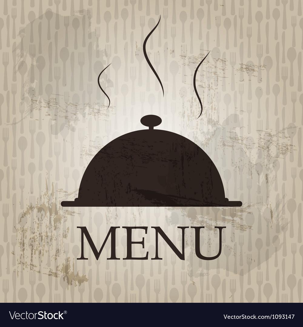 Restaurant menu template in grunge retro style
