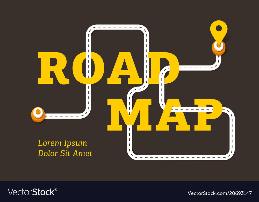 Road map business concept with winding road