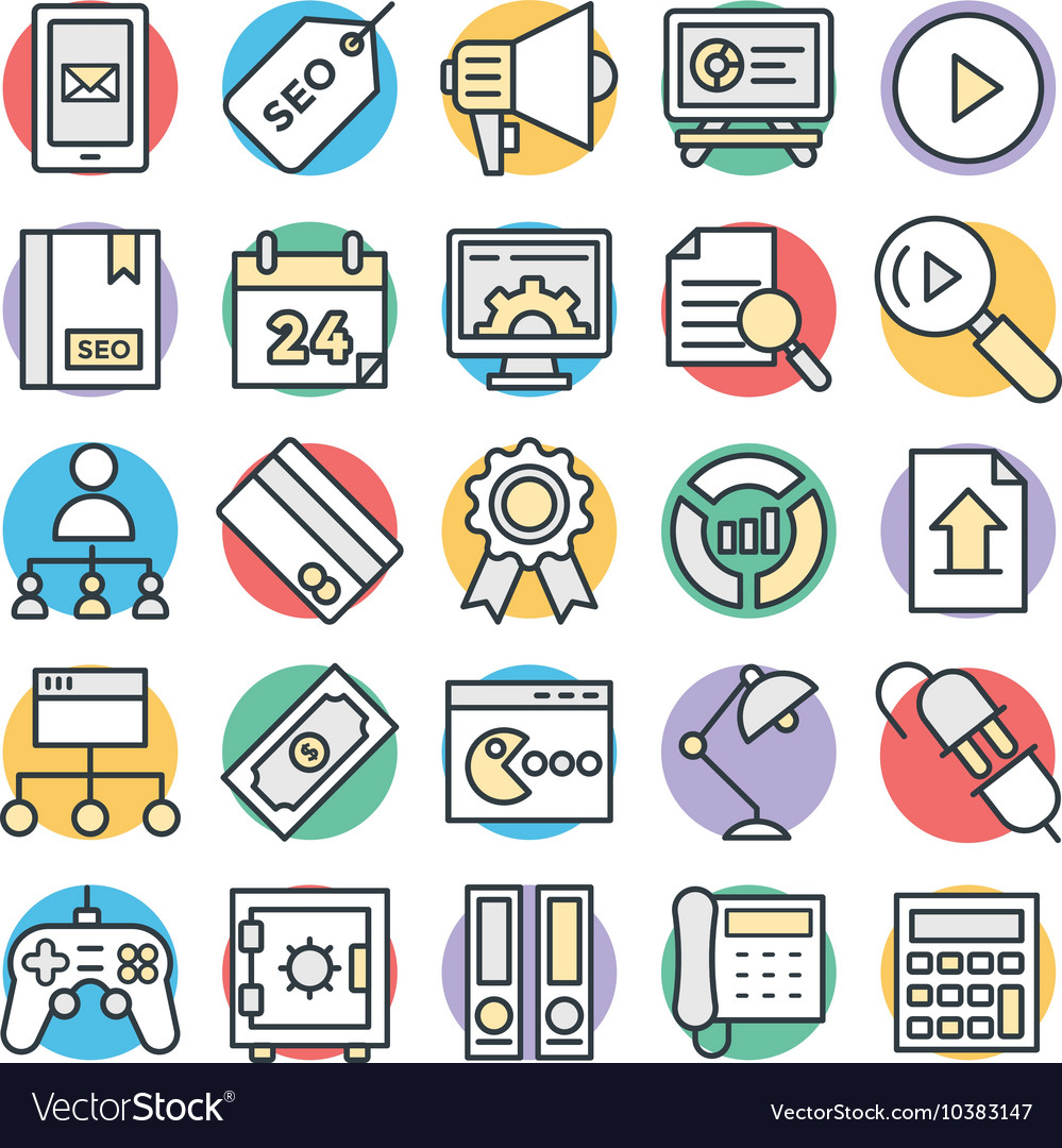 SEO and Internet Marketing Cool Icons 4