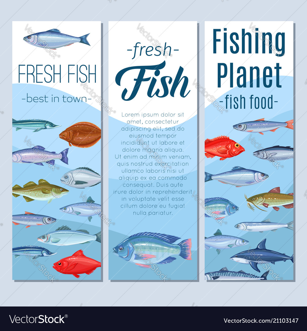 Set banners fish